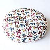 Zeenca Yogamatte, Meditationsrunde Lotusmatte, Waschbarer Bezug aus BaumwolleToyischer Trojaner.Durchmesser 45 dicke 15 cm (abnehmbar)