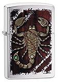 Zippo Steampunk Scorpion Benzinfeuerzeug, Messing, Edelstahloptik, 1 x 6 x 6 cm