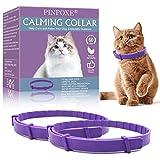 PINPOXE Beruhigendes Halsband, Beruhigungshalsband für Katzen, Katzenhalsband zur Beruhigung von Angst und Aggression, Anti-Angst-Halsband mit Einstellbarer Größe, lindert Angstzustände, 2