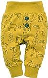 Pinokio - Secret Forest - Leggings mit elastischer Bund Jungen Unisex Baby Kinder Hosen mit Druck 95% Baumwolle Jogginghose Haremshose Gelb 56 62 68 74 80 86 92 98 cm (80 cm, Gelb)