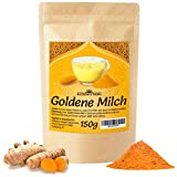 Goldene Milch Pulver 150g | Fertige Golden Milk Gewürzmischung ZUCKERFREI | Kurkuma Latte aus Kurkuma, Muskatnuss, Ingwer & Ceylon Zimt