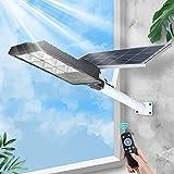 XXLYY LED Solar Street Flutlichter 50W - 300W Außenlampe mit Fernbedienung und Bewegungssensor - IP66 Wasserdichtes Solarlicht für Hof, Garten, Straße, Basketballplatz, 300W
