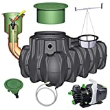 GRAF Regenwasser-Flachtank Platin Regenwassertank Zisterne Wassertank Garten-Jet, 1.500 L begehbar