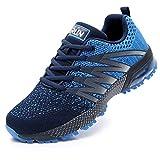 Axcone Damen Herren Sneaker Laufschuhe Air Sportschuhe Kletterschuhe Turnschuhe Running Fitness Sneaker Outdoors Straßenlaufschuhe Sports 8995 BU 42EU
