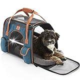 Tierhood Hundebox aus Stoff - Luxusdesign - Hundetasche für kleine Hunde bis 10kg - für Auto und Reisen - Hundetransportbox - Transportbox faltbar - Hundetragetasche Unterwegs - Tragetasche Hund