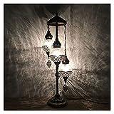 Binn Bogenlampe Dekorative türkische Stil stehleuchte, eisgebrochenes Glas lampenschirm, stehendes licht für wohnkultur Wohnzimmer Hotel Cafe Geschenk, Bronze Tageslichtlampe