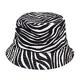 Matefielduk Cotton Bucket Hat Tiermuster Frauen Männer Outdoor Fisherman Caps (3 Zebra), Baby Hut,Baby-Mädchen Flapper Sonnenhut,Baby-Jungen Mütze,Unisex Baby Kleinkinder Sonn