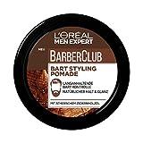 L'Oréal Paris Men Expert Bart Pomade und Haarwachs, Natürliches Finish, Barber Club Bart & Haar Styling Pomade, 1 x 75 ml