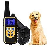Halsband Hund Erziehungshalsband Lederhalsband Mit Fernbedienung Antibell Halsband für Kleine Große Hunde Wasserdicht und 800 Yards Reichweite