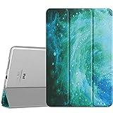 MoKo Hülle Kompatibel mit iPad Pro 9.7, Ultra Slim Lightweight Smart Cover mit Durchschaubar Rückseite Schutzhülle und Auto Schlaf/Wach für iPad Pro 9.7 Inch 2016 Tablet, Swirl