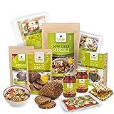 Lizza Low Carb Starter Box   Bis zu 94% weniger Kohlenhydrate   Keto-, Atkins- & Diabetikerfreundlich   Bio. Glutenfrei. Vegan.   Pizza, Toast Brötchen, Brot, Pasta, Brownie & Müsli (25 Portionen)