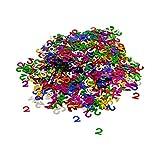 Oblique-Unique® Konfetti Zahl 2 Bunt 2. Geburtstag Jubiläum Deko Streudeko Tischdeko Zahlenkonfetti 800 Stück