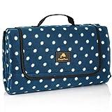 CampFeuer Picknickdecke wasserdicht 200x200 cm | blau | Muster: Punkte | XXL Campingdecke | Stranddecke isoliert