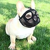 Maulkorb für Hunde mit kurzer Schnauze Hunde-Maulkorb Englische Bulldogge Französische Bulldogge Hundemündung Verstellbare Hundemundabdeckung Atmungsaktive Mesh Hundemaske Anti-Beißen Bellen Kauen