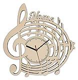 Musiker Geschenke Geschenkideen Musikliebhaber Wanduhr mit Gravur aus Holz p