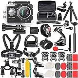 Neewer G1 Ultra HD 4K Action Kamera Set beinhaltet 12MP 98ft Unterwasser wasserdicht Kamera 170 Grad Weitwinkel WiFi Cam High-Tech Sensor mit 50 in 1 Action Kamera Zubehörset