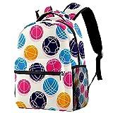 Daypack Farbe Boccia-Ball Schulrucksack Wasserdicht Schultaschen Jungen Teenager Mädchen Kinder Rucksack Drucken Schulranzen School Backpack 25.4x10x30 cm