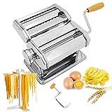 Seahelms Nudelmaschine mit Nudelregal, professionelle Küche, Edelstahl, handgefertigt, Nudelmaschine für Spaghetti, Lasagne oder Teigtaschen