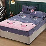CYYyang Unterbett Soft-Matratzen-Topper, Matratzenschutz Boxspring-Betten geeignet Einfache staubdichte Bettdecke aus Samt - 1_120 * 200 cm