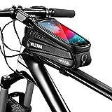 fuguzhu Wasserdicht Fahrradlenkertasche Handytasche Harte Schale Fahrrad Handyhalterung Lenkertasche mit Touch-Screen für Smartphone GPS Navi und andere Edge bis zu 6.5 Zoll Geräte