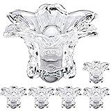 BJYX 6 x Kristallglas Teelichthalter Kerzenständer Glas Teelichtglas Teelichtgläser