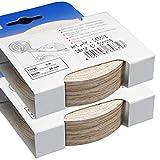 Melaminkantenumleimer 10 m x 20 mm in Sonoma Eiche 2 x 5 m Rollen Umleimer mit SK glatt und strukturlos, Kantenumleimer inkl. Schmelzkleber für Regalböden und Möbelbauplatten