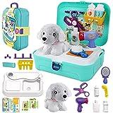 STAY GENT Tierarzt Spielzeug Arztkoffer Kinder, Arzt Rollenspiel für Füttern und Pflegen von Plüschhunden Rucksack Rollenspiels Lerngeschenke Spielset Geschenke für Jungen Mädchen 3-7 Jahren