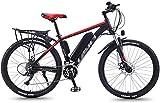 Schnelle Geschwindigkeit Adult Fat Tire Elektro Mountainbike, 350W Schnee Fahrrad, 26inch E-Bike 21 Beschleunigt Beach Cruiser Sport Mountainbikes Fullys, Leichte Aluminium Rahmen ( Color : Red )