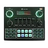 WQMA Professioneller Live-Sound-Mixer Voice Changer Externes Mini-Soundboard DJ-Controller Ausrüstung 3,5-Mm-Mikrofon-Headset Live-Übertragung Bluetooth-Sound-Adapter Für Live-Streaming-PC