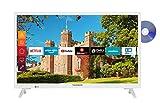 Telefunken XH24J501D-W 24 Zoll Fernseher (Smart TV inkl. Prime Video / Netflix / YouTube, HD ready, DVD-Player, Works with Alexa, Triple-Tuner) [Modelljahr 2021]