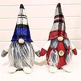 LBYMYB. 2PCS handgemachte schwedische Gnom-Puppe Ornamente ausziehbare stehende Figur Spielzeug Holiday Home Party Dekor Plüsch Puppe Ornamente für Home Tisch Küche Valentinstag Hochzeitsgeschenk