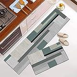 Amcerd Teppich Läufer, Korridor Teppich rutschfest, Modern rutschfest Waschbar für Wohnzimmer Flur Küche - 110x180