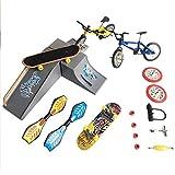 Dehongwang Mini-Fingerspielzeug-Set, Fingerboards, Finger-Bikes, Tiny Swing Board mit Ersatzrädern und Werkzeug für Kinder