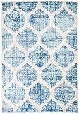 Carpeto Rugs Marokkanisch Kinderzimmerteppich - Kurzflor Kinderteppich - Weich Teppich für Kinderzimmer - ÖKO-TEX Wohnzimmerteppich - Teppiche - Blau Türkis - 120 x 170 cm