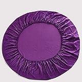 CYYyang Matratzenauflage Kopfkissenschoner in verschiedenen Größen Pure Cotton Pure Color Bettdecke Round Bed-Violet_2.2m