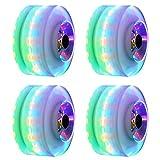 Xpccj 4 leuchtende Skateboard-Räder, Ersatz-Räder, Quad-Skates, Rollen für Doppel-Rollschuhlaufen, LED-Licht, Kernel 82 A Härte