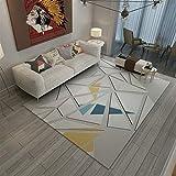 Liveinu Gedruckt Modern Teppich mit Anti-Rutsch Unterstützung Abwaschbarer Kurzflor Teppich Fußmatten 80x160cm 1218-2