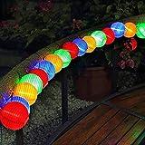 Solar Lichterkette Lampions 30er LED Garten Außen Innen Wasserfest 6,5 Meter Warmweiß Solar Beleuchtung für Hochzeit Party,Garten Terrasse, Hof, Haus, Outdoor, Fest Deko usw