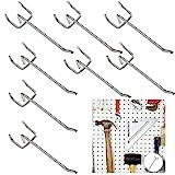 Stecktafel Haken Haken Pegboard Lochwandhaken Pegboard Hooks Haken Werkzeugwand Haken Board Anhänge Haken Lochwandhaken Sortiment Lochwand Zubehör 40 Stück für Supermarktregale Baumärkte Werkzeugräume