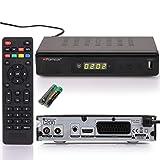 RED OPTICUM C200 HD Kabelreceiver I Digitaler Kabel-Receiver HD mit LED-Display - EPG - HDMI - USB - SCART - Coaxial Audio I Stromsparender Receiver für Kabelfernsehen I DVB-C Receiver schwarz
