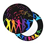 Barhockerbezüge Round Dance mit Musikhocker Schonbezug Stuhlkissen Waschbare Stuhlsitzbezüge Memory Foam Gepolsterte Barhockerbezüge mit rutschfestem Gummiband