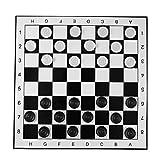 Cosye Internationales Schachspiel Große Kunststoffprüfer/Entwürfe Faltschachbrett Internationales Schachspiel Travel Brettspiel Wettbewerbsspielzeug