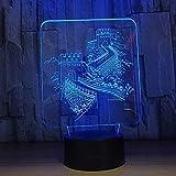 Des Nachtlichts 3D Led Kindernachtlicht Große Mauer Bauen Kind Weihnachtengeburtstagsgeschenk Mit Usb-Aufladung, Farbenfrohe Farbwechsel-Touch-Steuerung