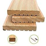 HORI® Bangkirai-Terrassendielen Premium I Komplettset, massive Holz-Terrassendielen I Dielenlänge 3,05 m I Fläche 5 m²