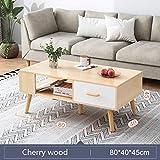 Kleiner tischgrill elektrisch Umweltfreundliches Lack Wohnzimmer Moderner kreativer Couchtisch, einfach zu montieren Home Tee-Tisch, kleiner Wohnungstabelle mit Schubladen, Holztisch-top Mini-Couchtis