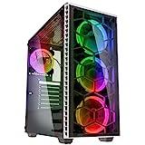 KOLINK - Observatory RGB Midi-Tower - Computergehäuse, PC Hülle, ATX Gehäuse, Tempered Glass Gaming PC Case, Dezentes Design Computer Gehäuse, Weiß