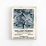 William Morris Ausstellungsplakat - Galeriequalität - Vintage Wandkunst Familie rahmenlose dekorative Leinwandmalerei Q-58 70x100cm