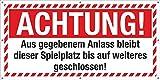 PVC Werbebanner Banner Plane Betreten verboten Sicherheit Spielplatz gesperrt