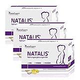 SanaExpert Natalis Vitamine für die Schwangerschaft mit 700 µg DHA Omega-3 Folsäure Eisen, 90 Kapseln, 3-Monatspackung