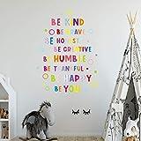 Wanddeko Fürs Kinderzimmer,Cartoon Englisch Alphabet Wandaufkleber Für Kinderzimmer Home Office Dekor Inspirierende Ästhetik Poster Zimmer Wandbild Home D